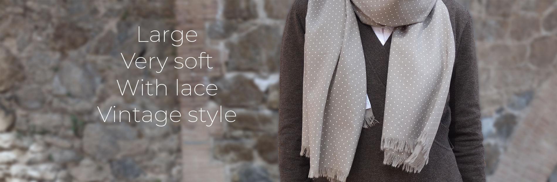 Fular mujer beige moda sostenible
